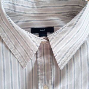 GAP Blue Striped Button Down Shirt Large